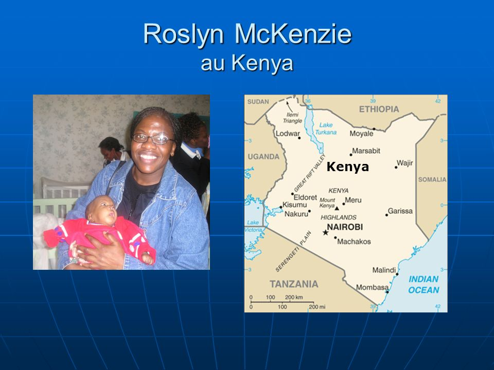 Roslyn McKenzie au Kenya