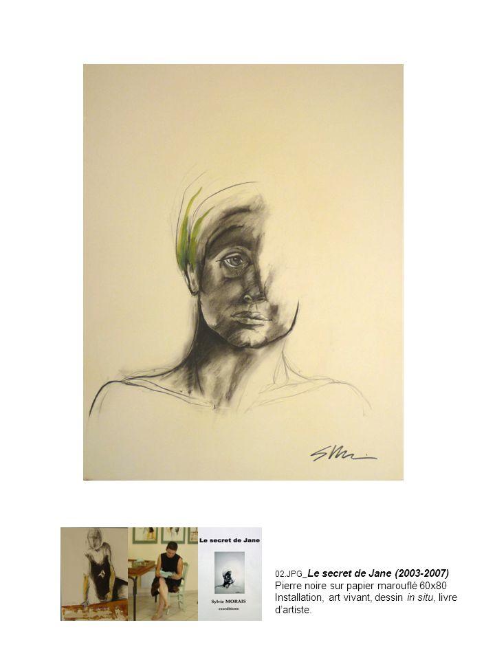 Pierre noire sur papier marouflé 60x80