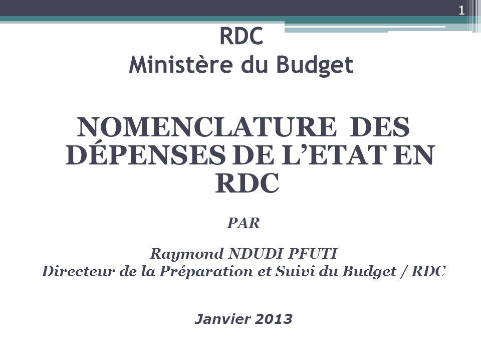 RDC Ministère du Budget