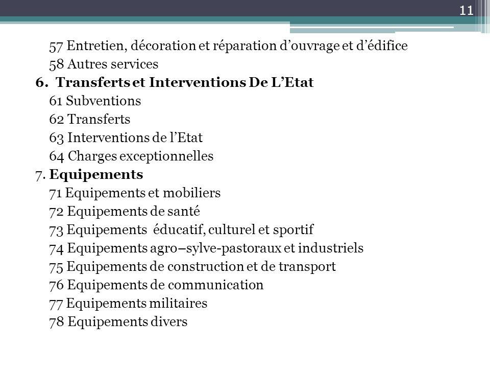 57 Entretien, décoration et réparation d'ouvrage et d'édifice 58 Autres services 6.