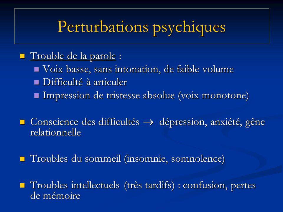 Perturbations psychiques