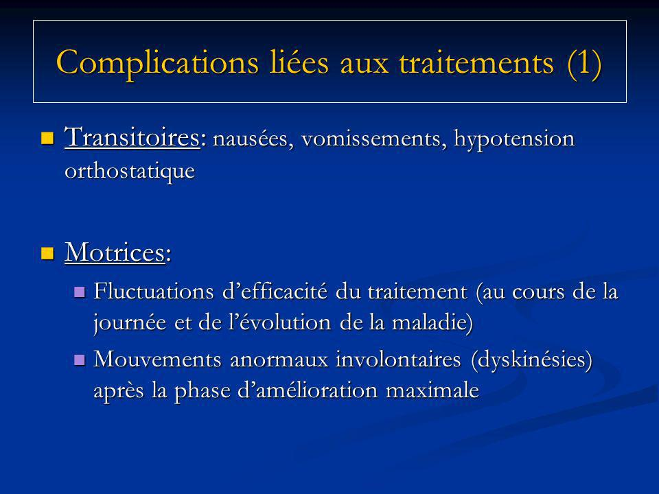 Complications liées aux traitements (1)