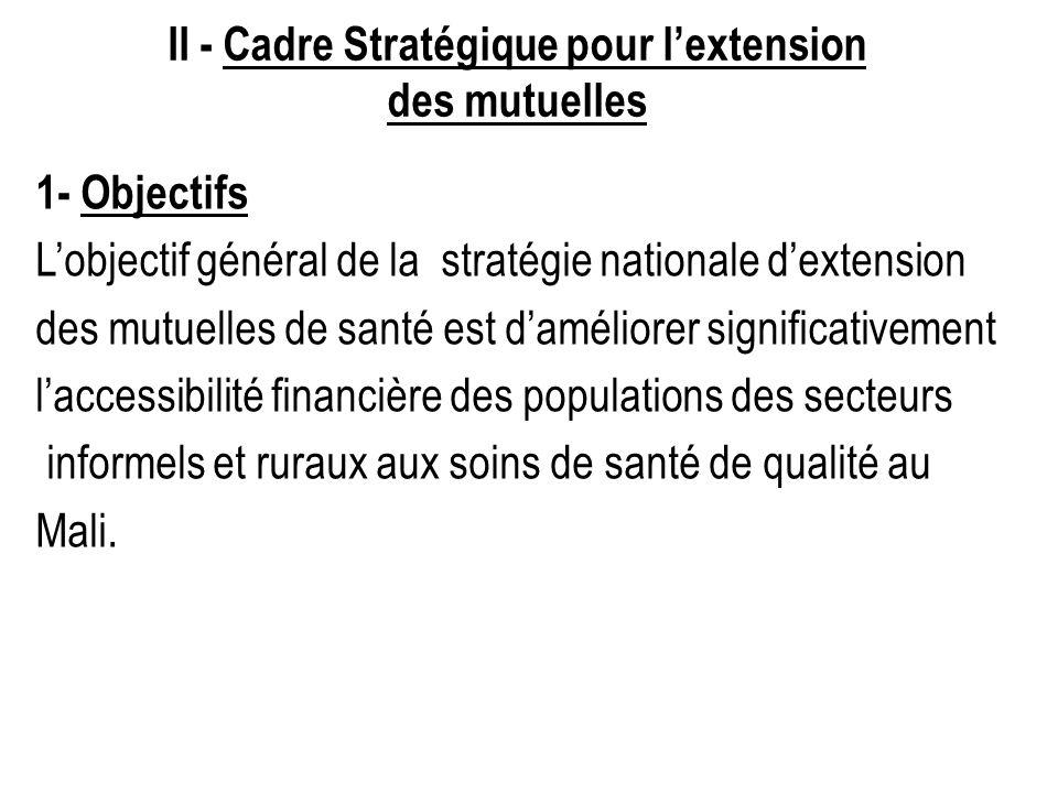 II - Cadre Stratégique pour l'extension des mutuelles