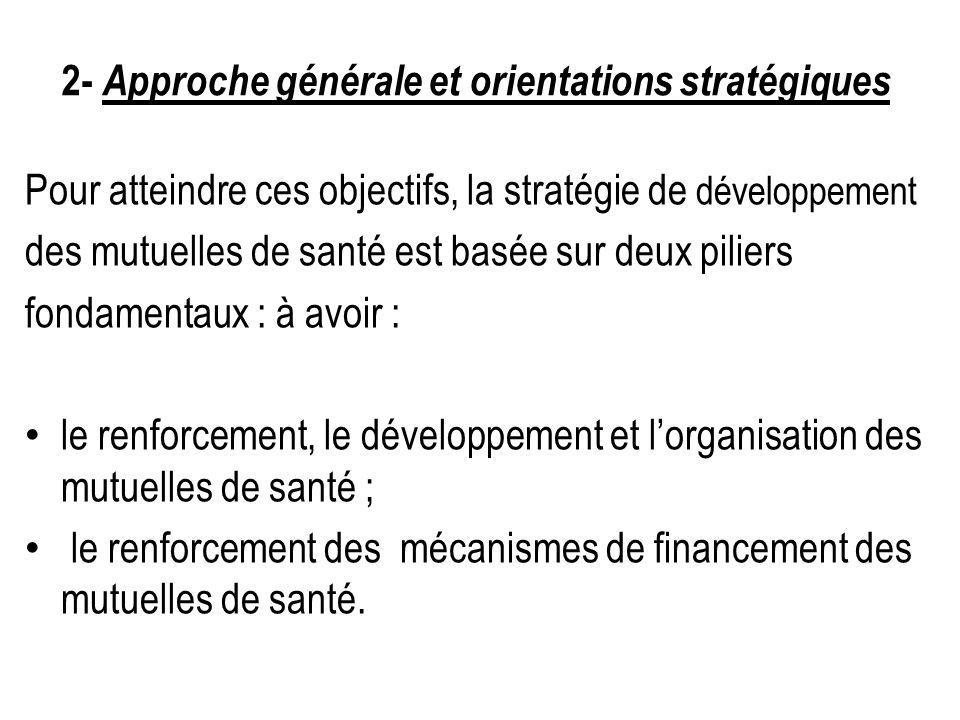 2- Approche générale et orientations stratégiques