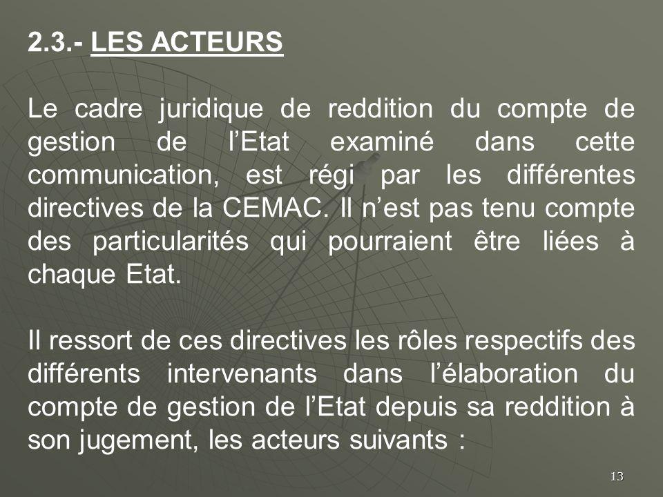 2.3.- LES ACTEURS