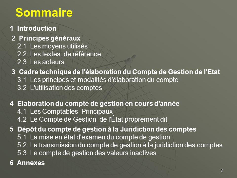 Sommaire 1 Introduction 2 Principes généraux 2.1 Les moyens utilisés