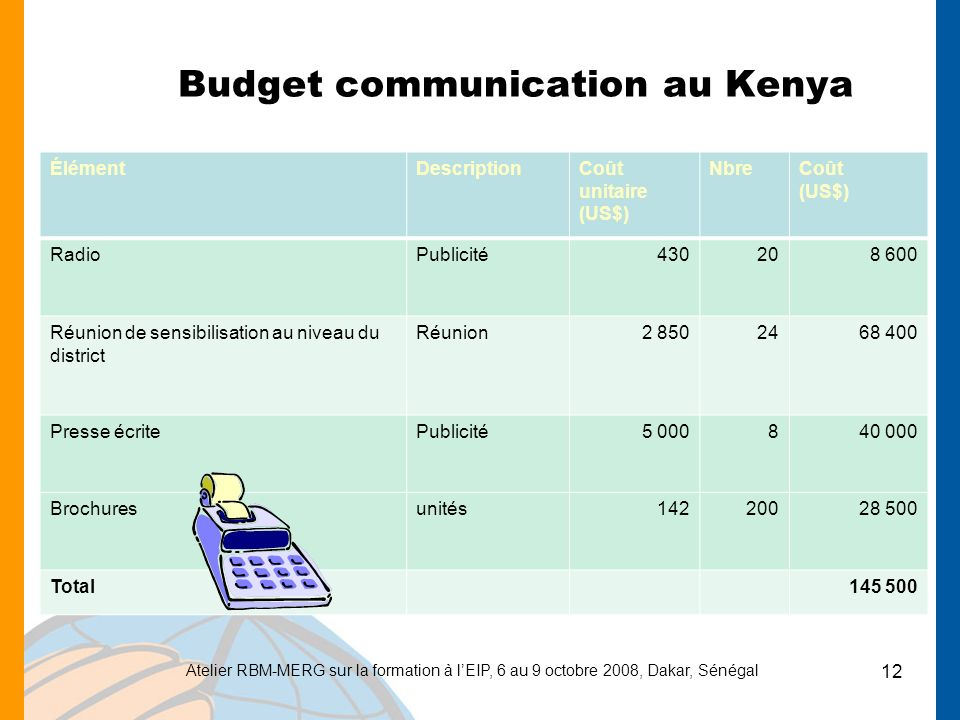 Budget communication au Kenya