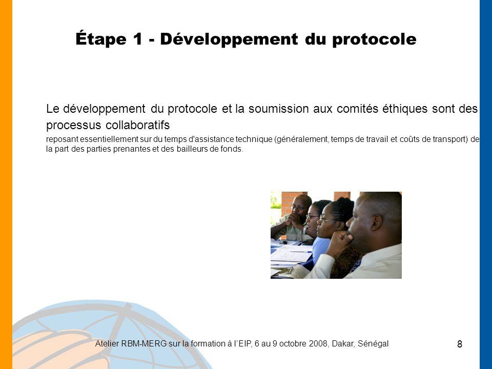 Étape 1 - Développement du protocole