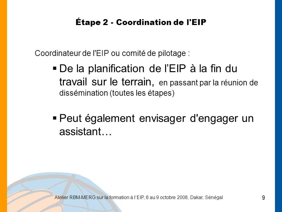 Étape 2 - Coordination de l EIP