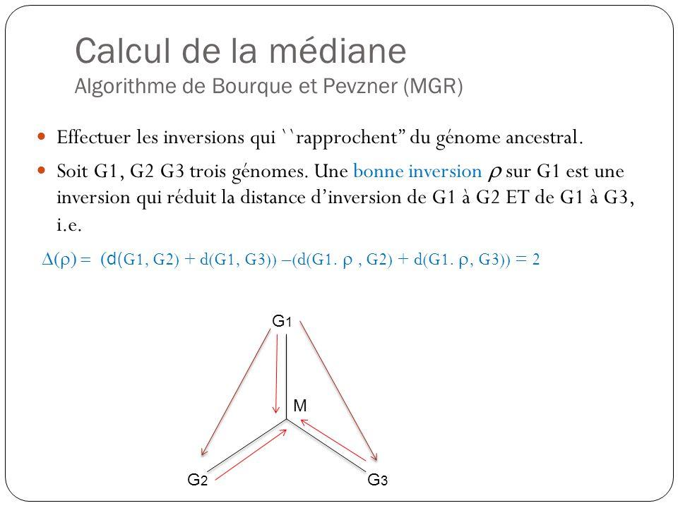 Calcul de la médiane Algorithme de Bourque et Pevzner (MGR)