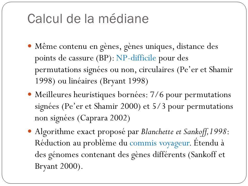 Calcul de la médiane