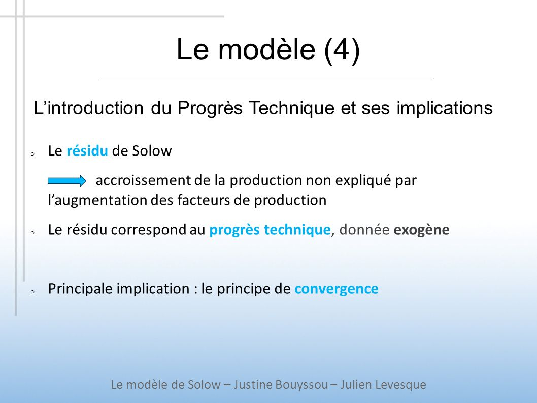 Le modèle de Solow – Justine Bouyssou – Julien Levesque