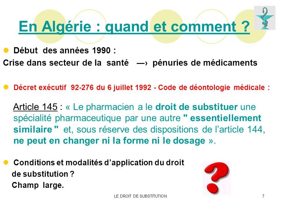 En Algérie : quand et comment
