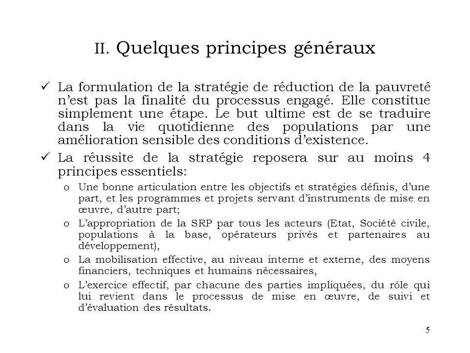 II. Quelques principes généraux