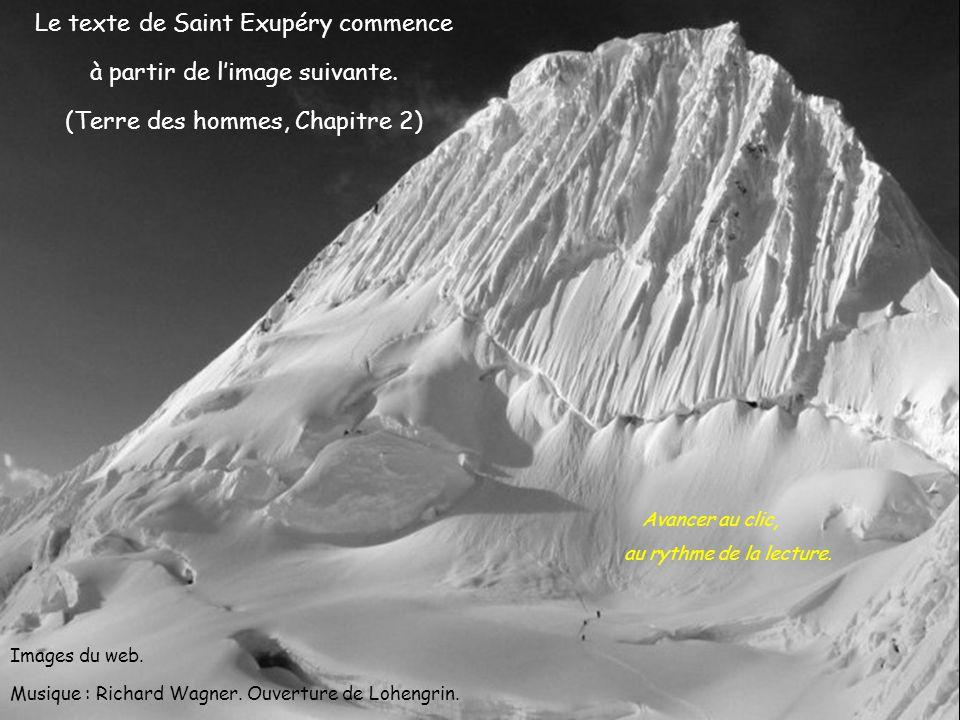 Le texte de Saint Exupéry commence à partir de l'image suivante.