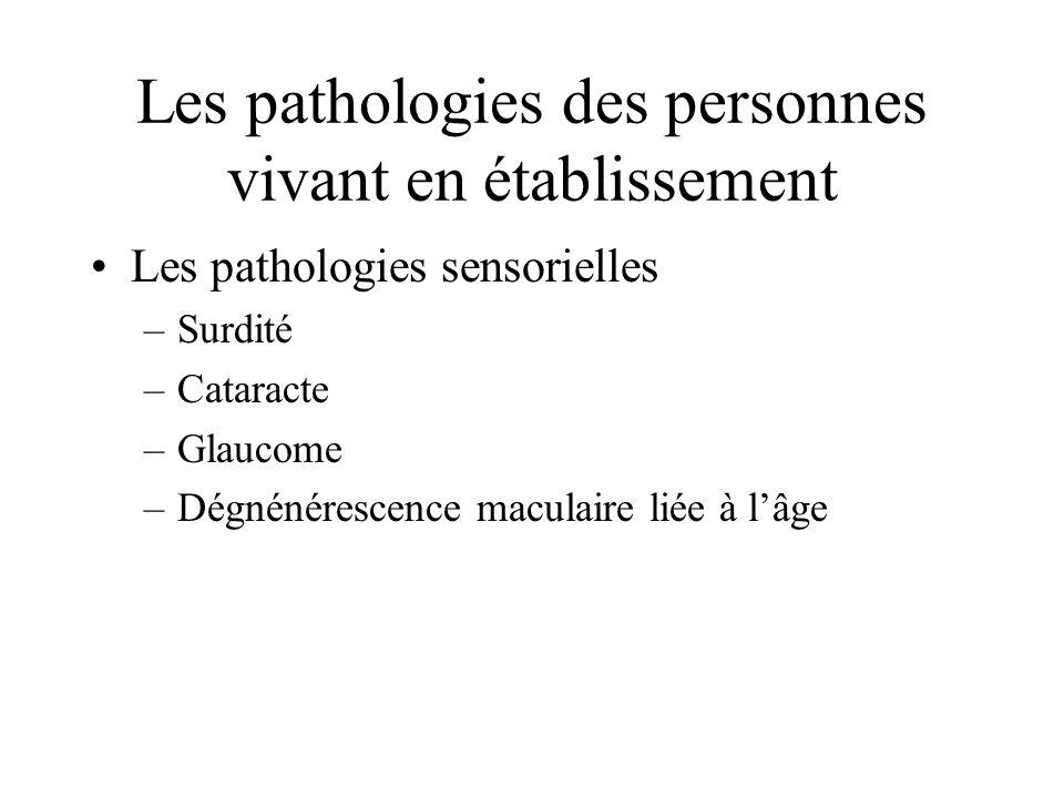 Les pathologies des personnes vivant en établissement