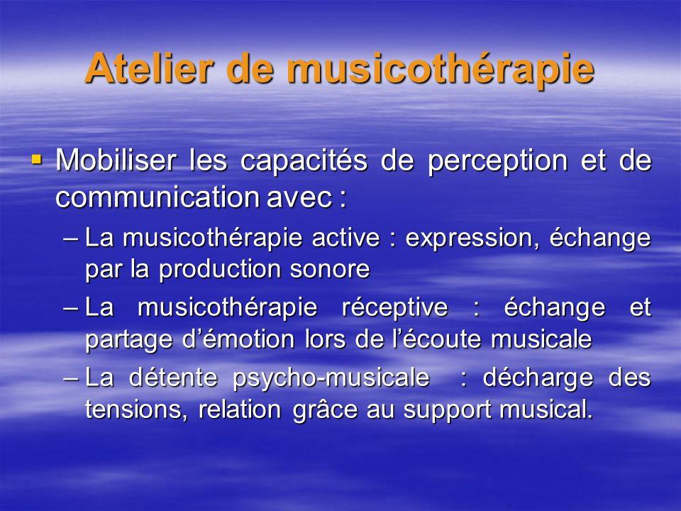 Atelier de musicothérapie