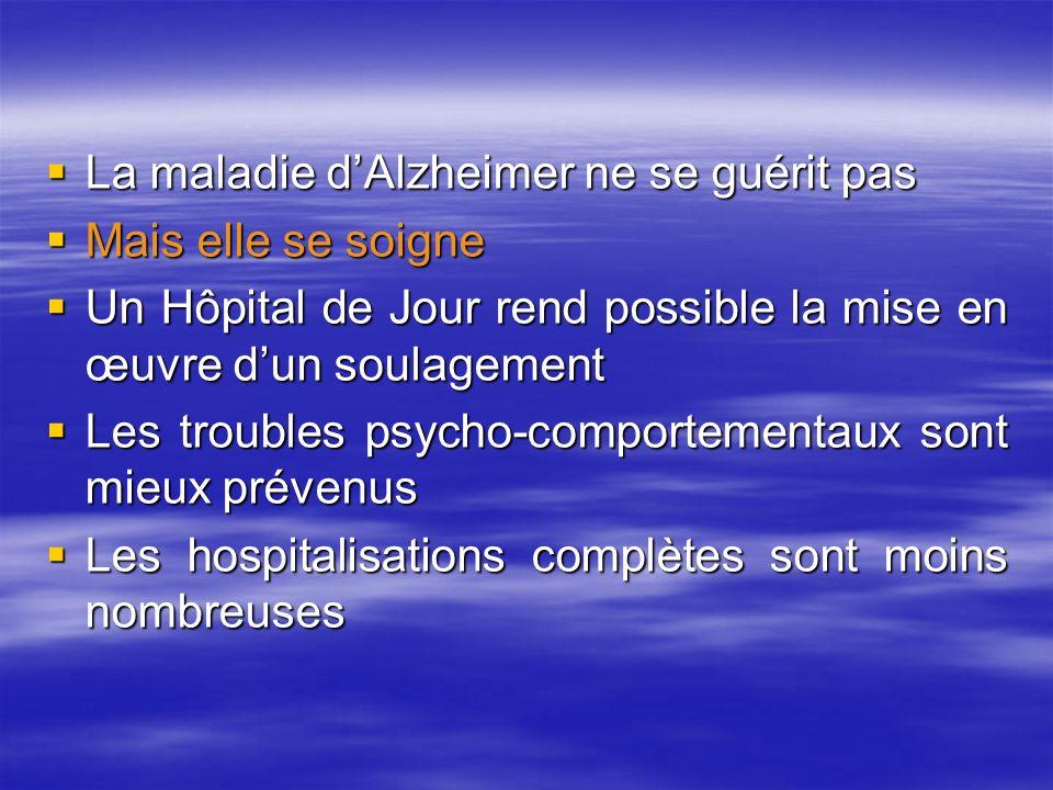 La maladie d'Alzheimer ne se guérit pas