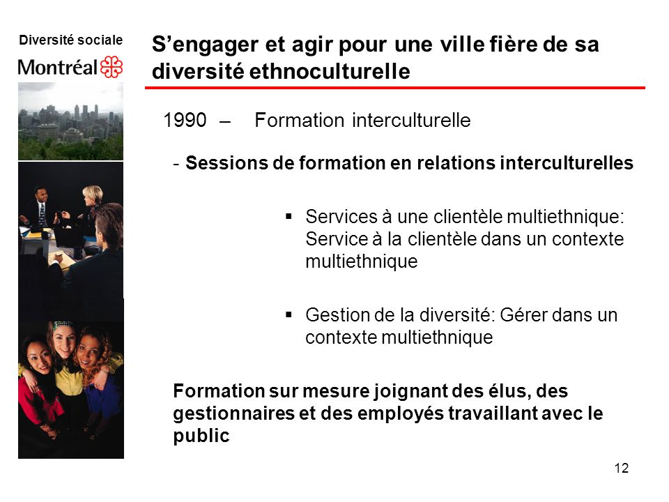 1990 – Formation interculturelle
