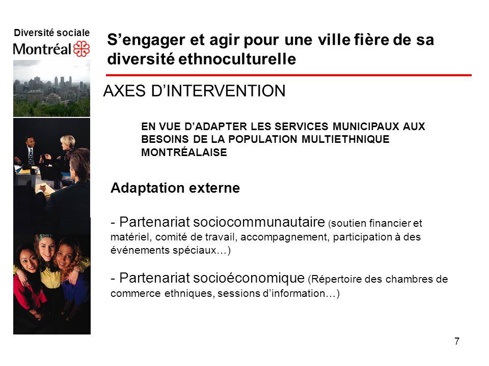 S'engager et agir pour une ville fière de sa diversité ethnoculturelle