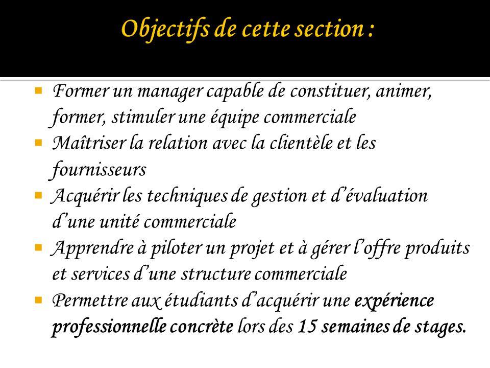 Objectifs de cette section :