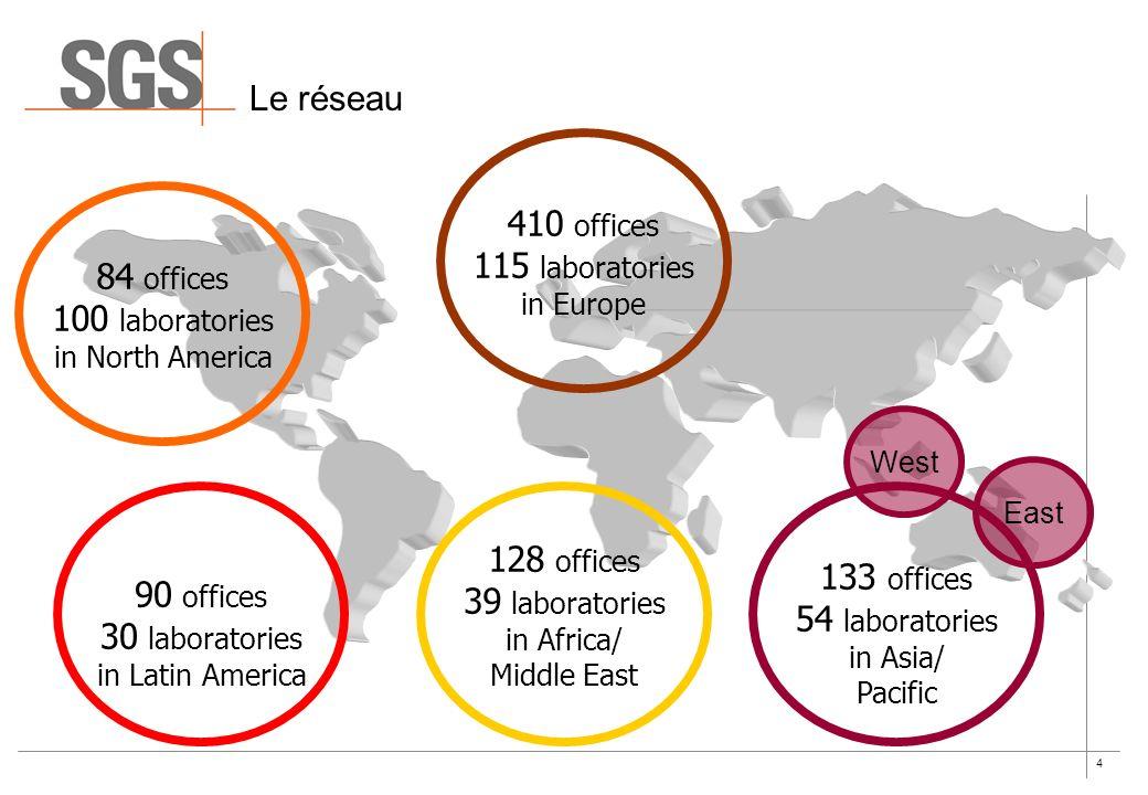 Le réseau 410 offices 115 laboratories 84 offices 100 laboratories