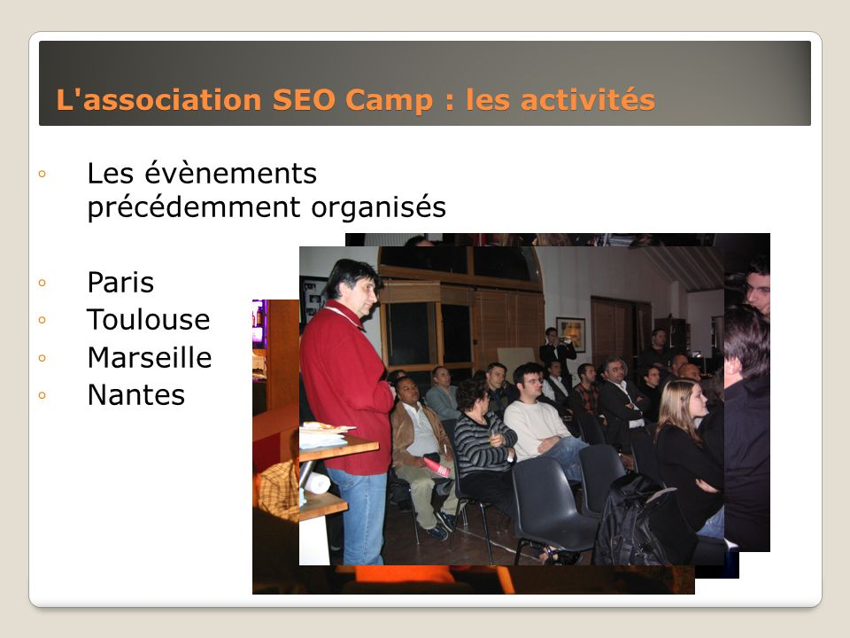 L association SEO Camp : les activités