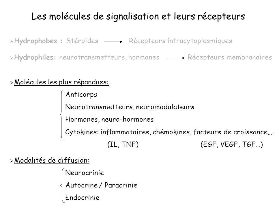 Les molécules de signalisation et leurs récepteurs
