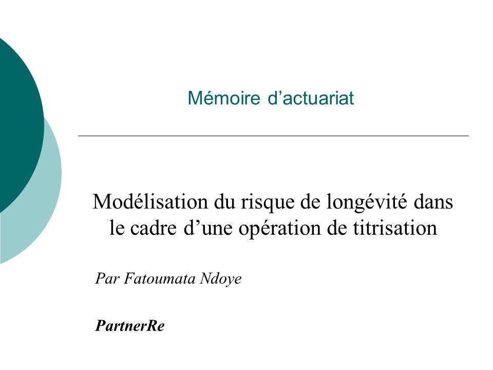 Mémoire d'actuariat Modélisation du risque de longévité dans le cadre d'une opération de titrisation.
