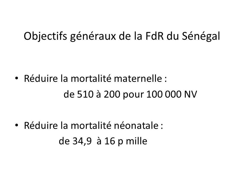 Objectifs généraux de la FdR du Sénégal