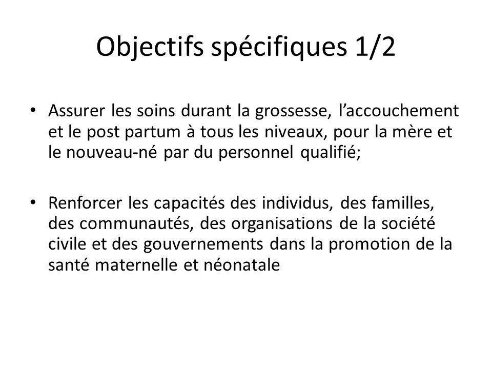 Objectifs spécifiques 1/2