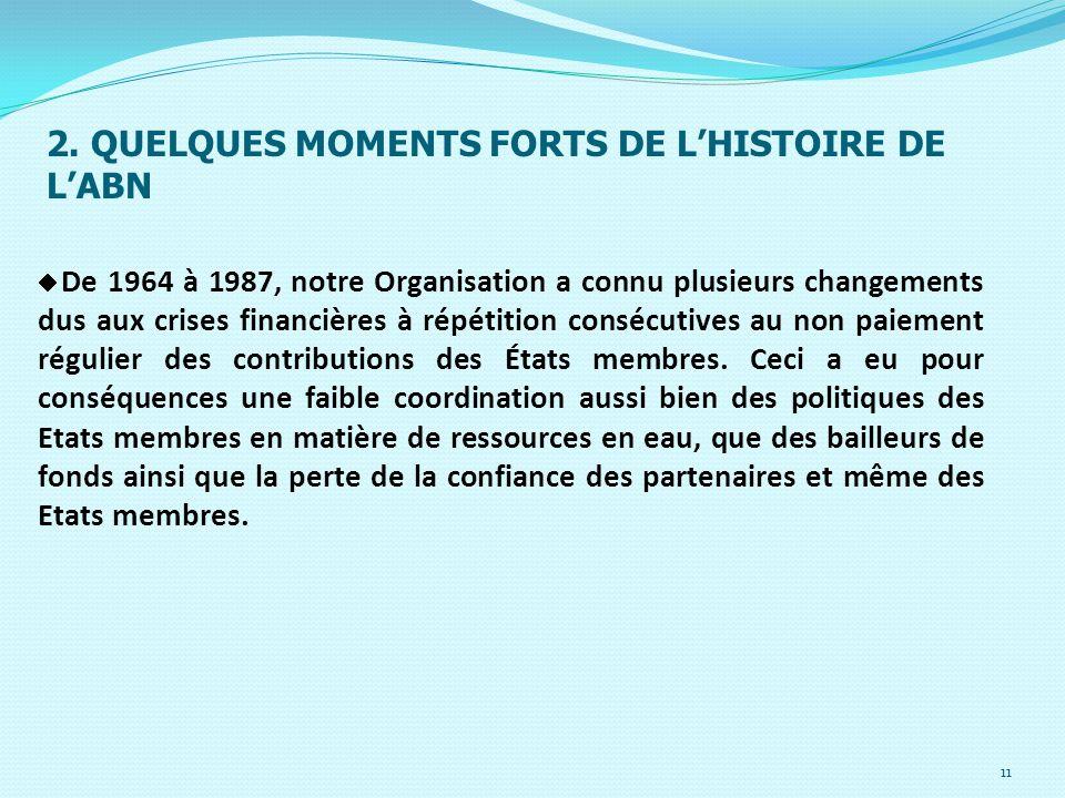 2. QUELQUES MOMENTS FORTS DE L'HISTOIRE DE L'ABN