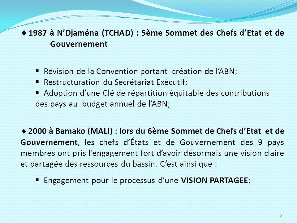 1987 à N'Djaména (TCHAD) : 5ème Sommet des Chefs d'Etat et de