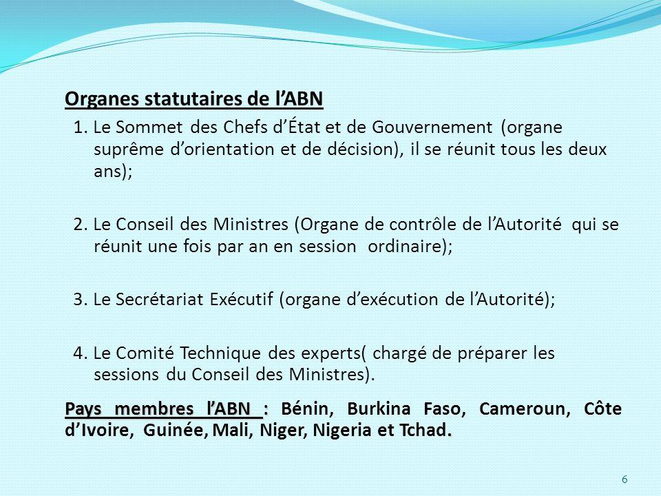 Organes statutaires de l'ABN