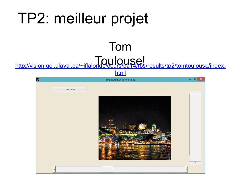 TP2: meilleur projet Tom Toulouse!