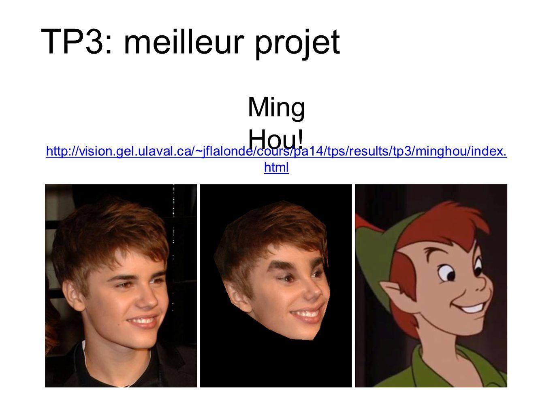 TP3: meilleur projet Ming Hou!