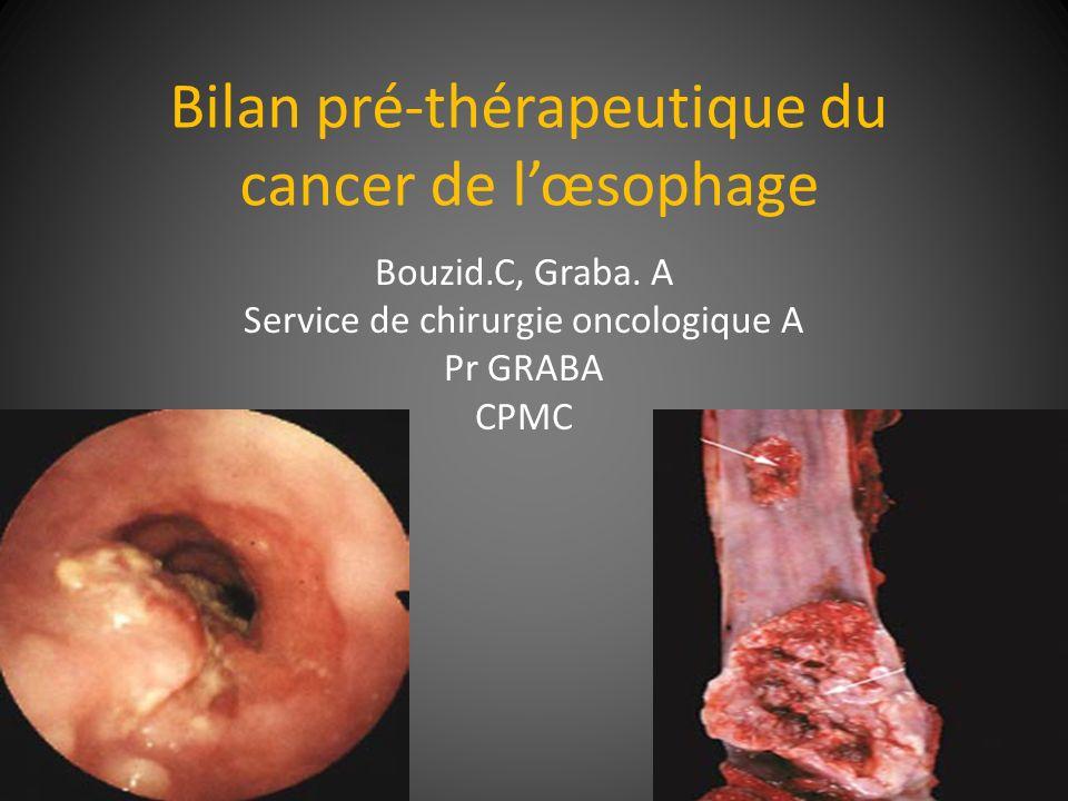 Bilan pré-thérapeutique du cancer de l'œsophage