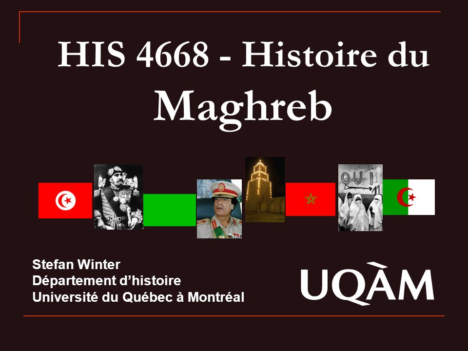 HIS 4668 - Histoire du Maghreb