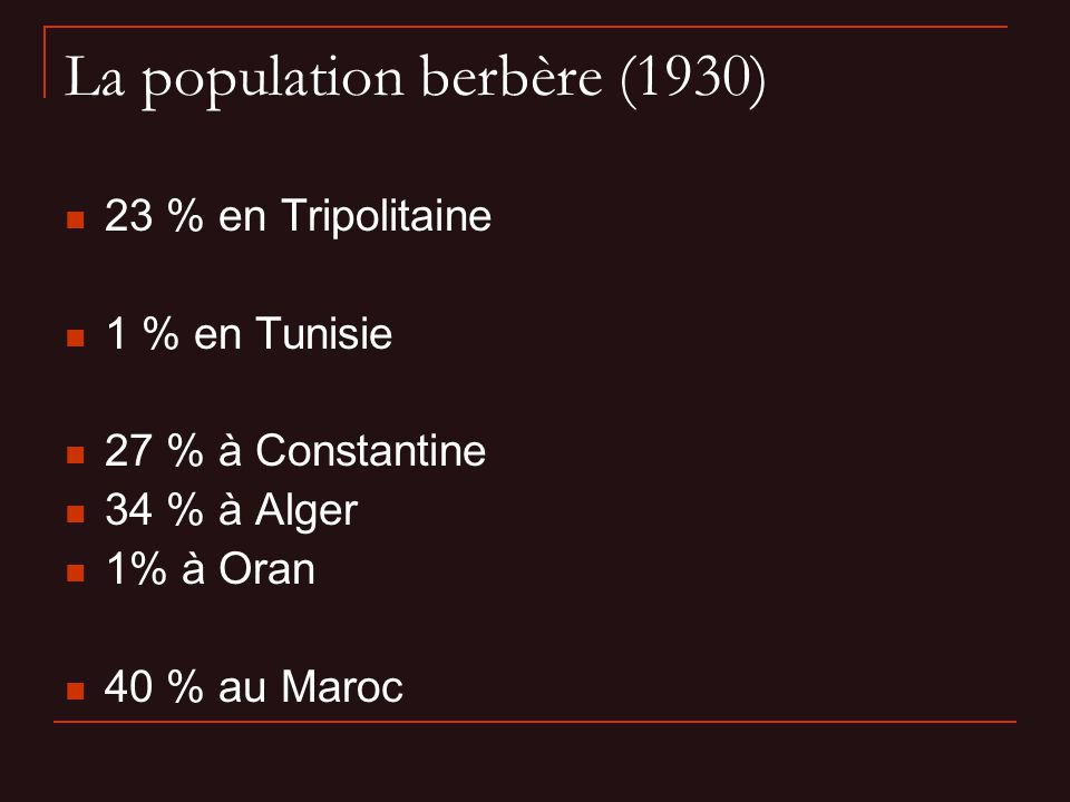 La population berbère (1930)
