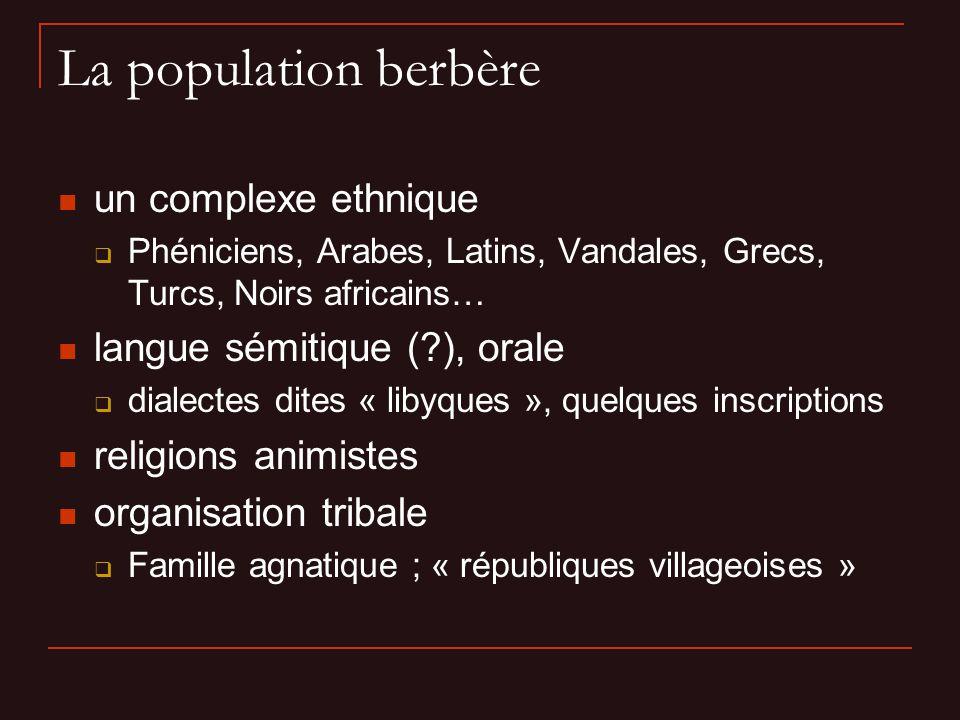 La population berbère un complexe ethnique langue sémitique ( ), orale