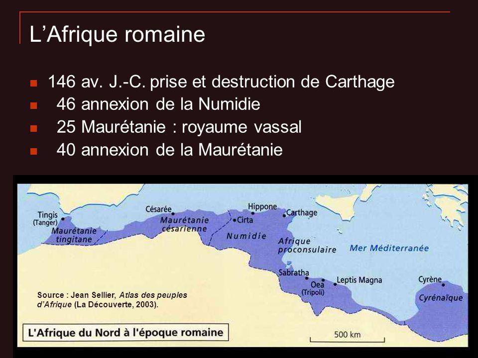 L'Afrique romaine 146 av. J.-C. prise et destruction de Carthage