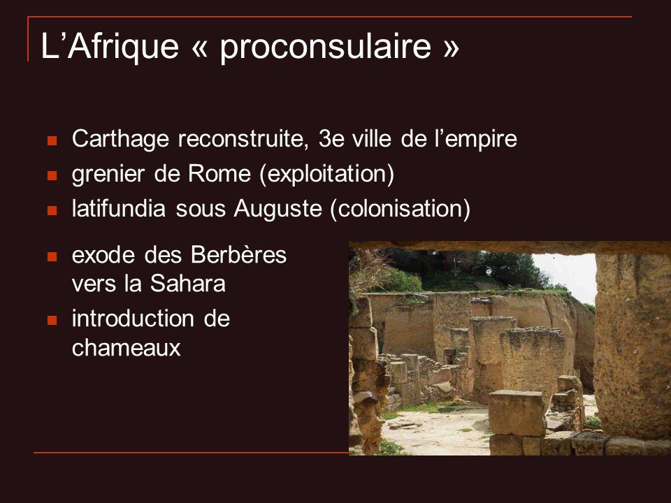 L'Afrique « proconsulaire »
