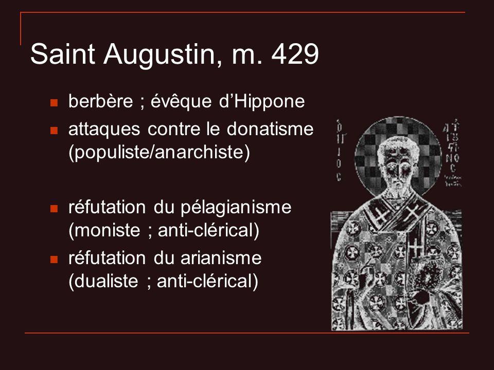 Saint Augustin, m. 429 berbère ; évêque d'Hippone
