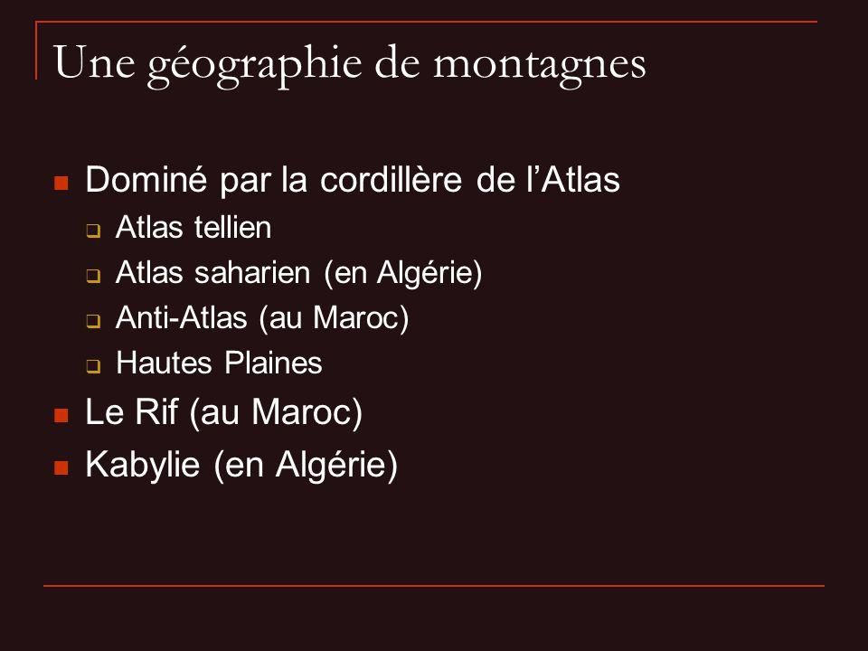 Une géographie de montagnes