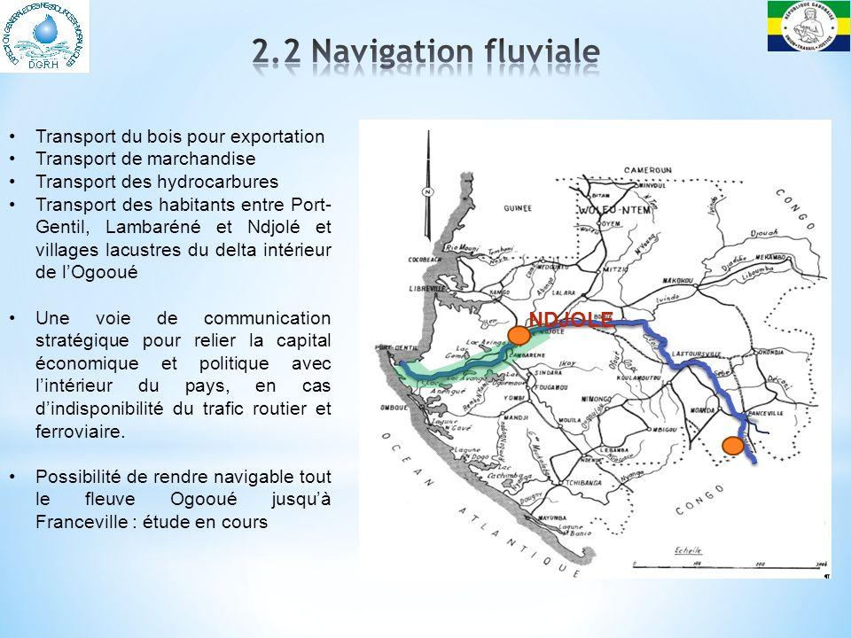 2.2 Navigation fluviale NDJOLE Transport du bois pour exportation