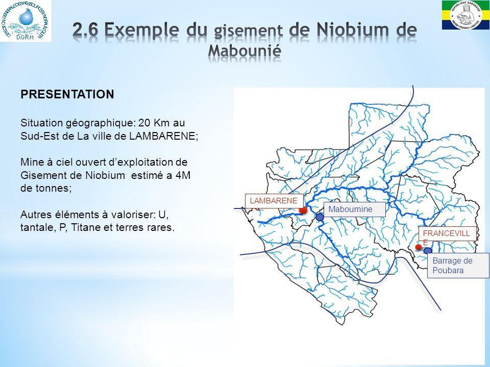 2.6 Exemple du gisement de Niobium de Mabounié