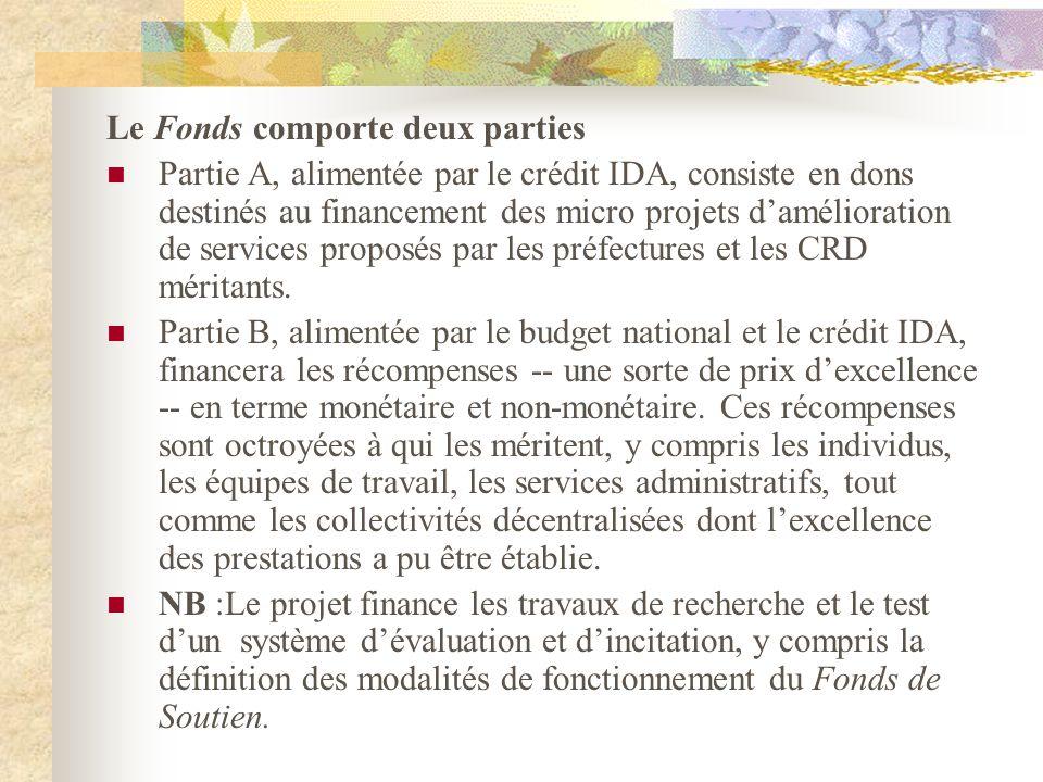 Le Fonds comporte deux parties