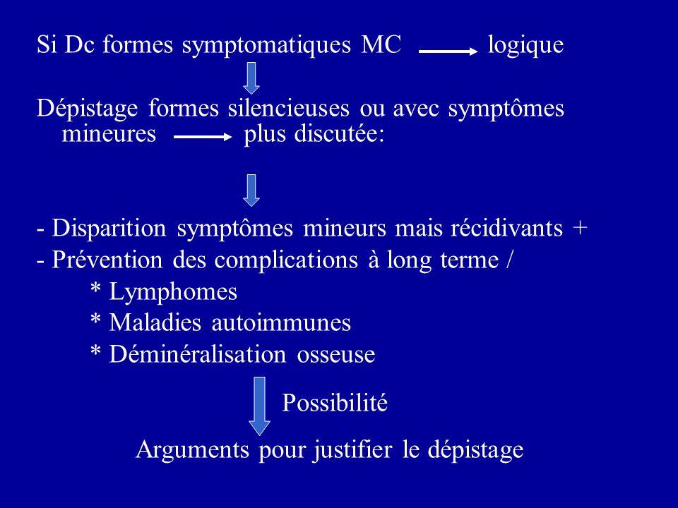 Si Dc formes symptomatiques MC logique