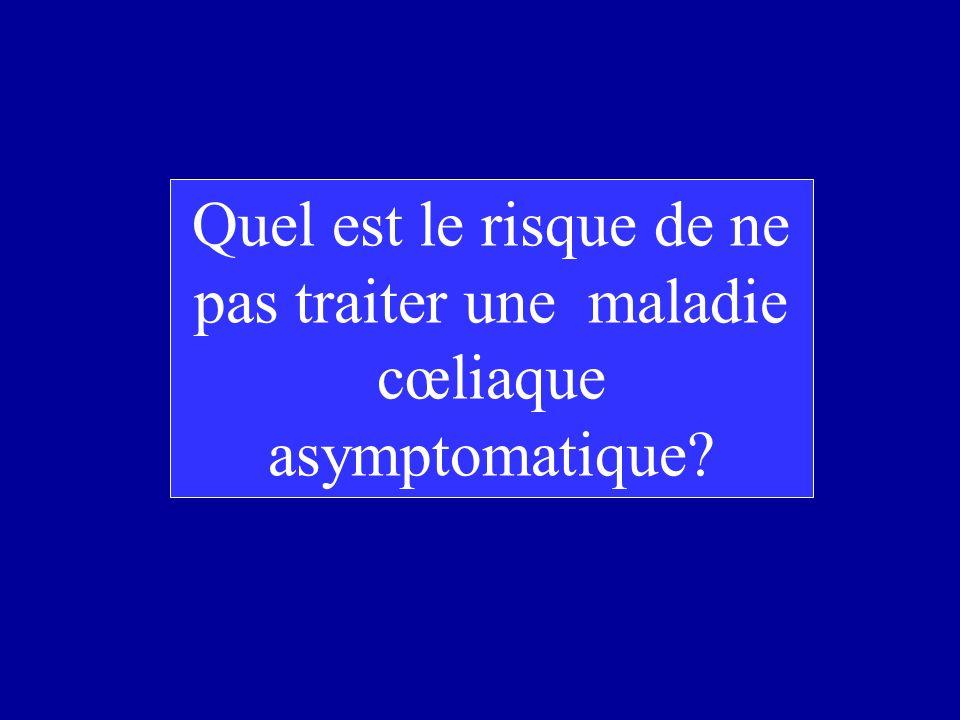 Quel est le risque de ne pas traiter une maladie cœliaque asymptomatique