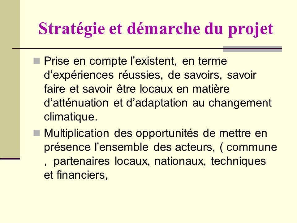 Stratégie et démarche du projet